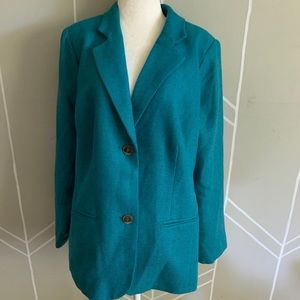 Isaac Mizrahi Live! 18 W Green Coat New With Tags